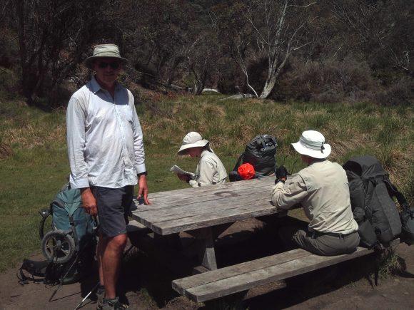 Lunch near Dibbins Hut on the AAWT