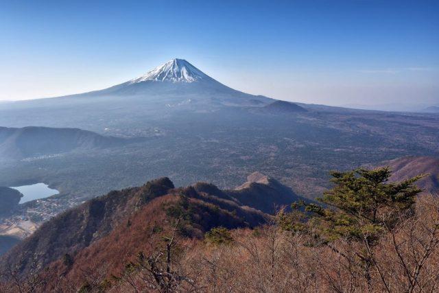 王岳山頂からの富士