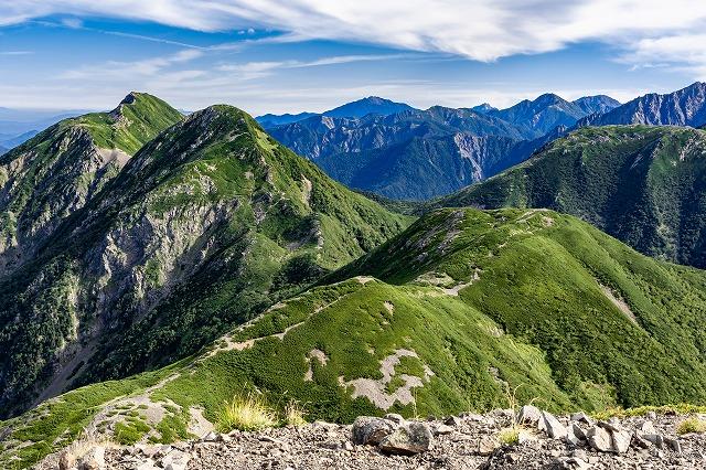 小兎岳と中盛丸山