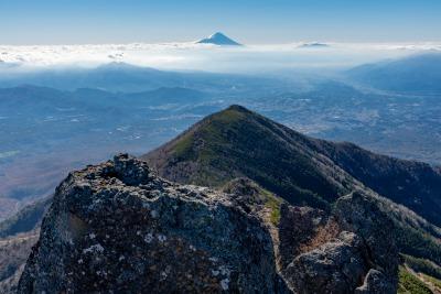 権現岳山頂からの富士山