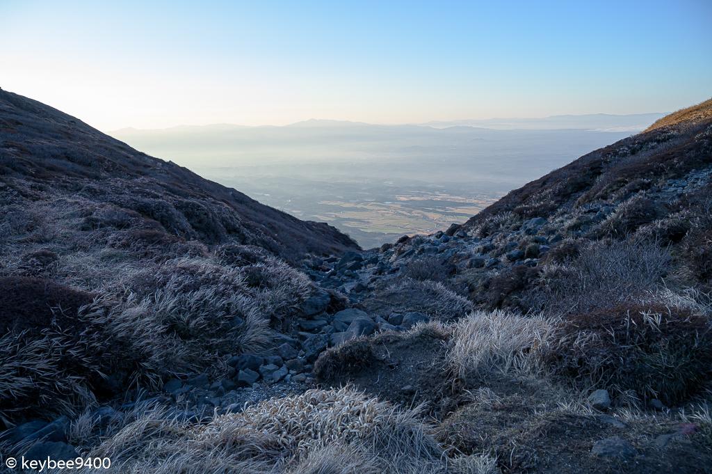 神明水から南登山口方面の景色