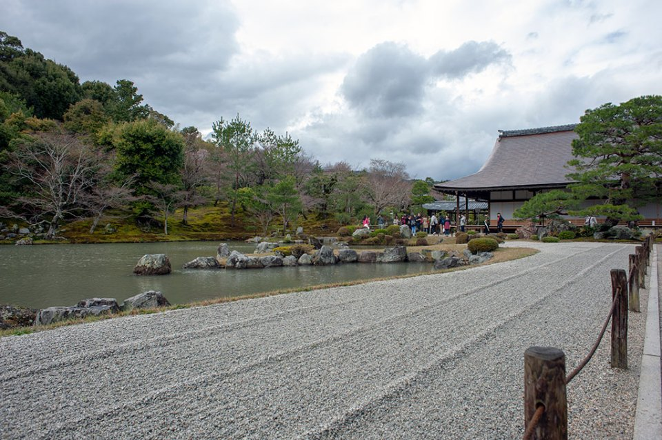 rockless garden in Arashiyama