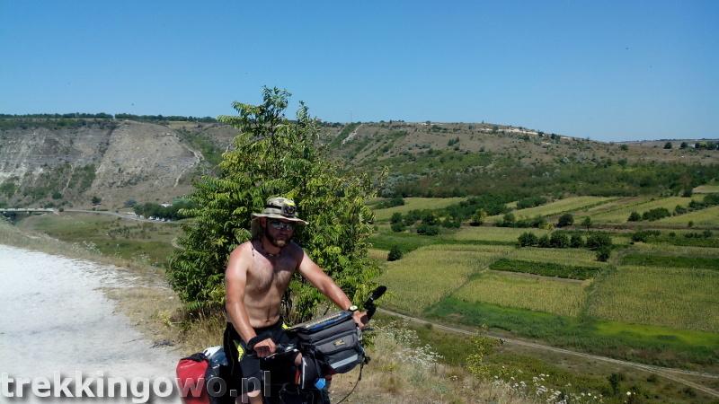 Mołdawia - Dzień 6 wzgórze Orheiul Vechi wjazd trekkingowo