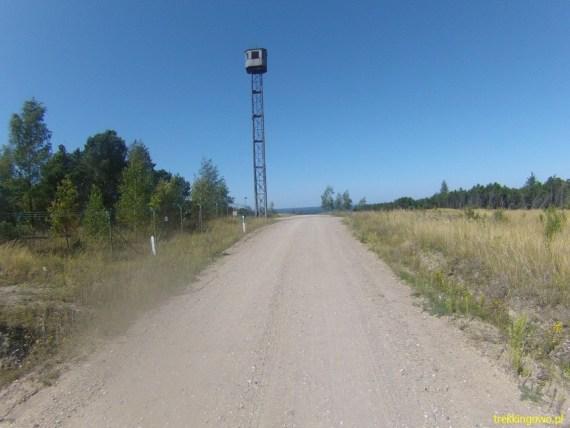 Z oddali widać wieżę, na którą się wspinaliśmy dla widoków