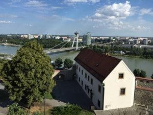 Bratislava, vue sur Danube et le Pont Neuf