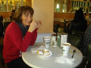 Me enjoying a coffe au late on a previous visit