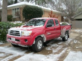 Steve's truck looking tougher then ever with snow.
