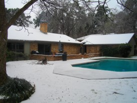 Snow and pool