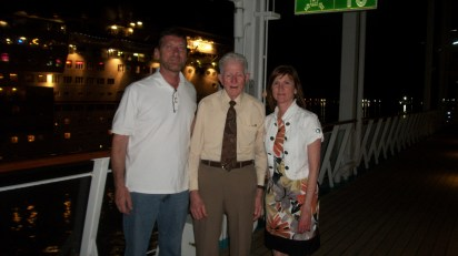 Steve and I were out on the deck with Uncle Paul and Mari before dinner that Saturday night.
