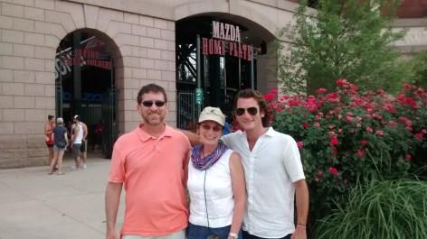 June 2015-- Steve, Micah and I at a Texas Rangers game in Arlington, TX