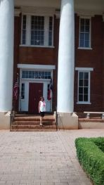 Steve capturing me at the entrance to the old University Building.