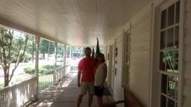 Steve and I on the front porch of the Sterne-Hoya Home. June 2015