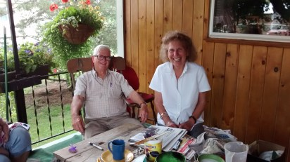 Wayne and Rita on their porch in Whitesville, NY