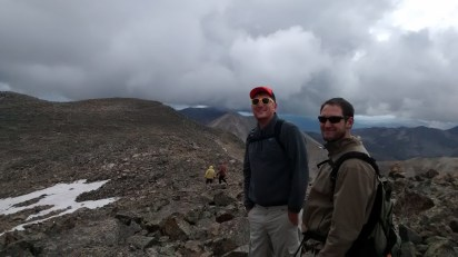 John our 14er guide with Eli. John and his sister Kathryn were on our adventure.
