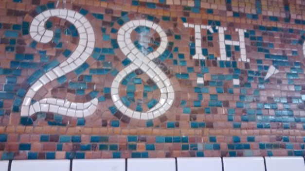 The tile at 28th Street subway exit.