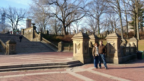 Steve and I on January 13, 2017 in Central Park at Bethesda Terrace & Fountain.