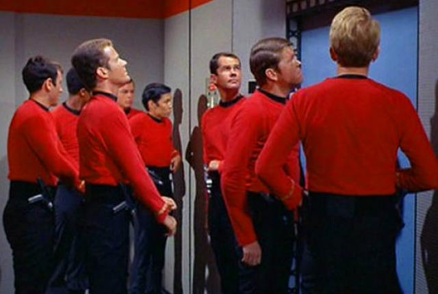 This image has an empty alt attribute; its file name is redshirts.jpg