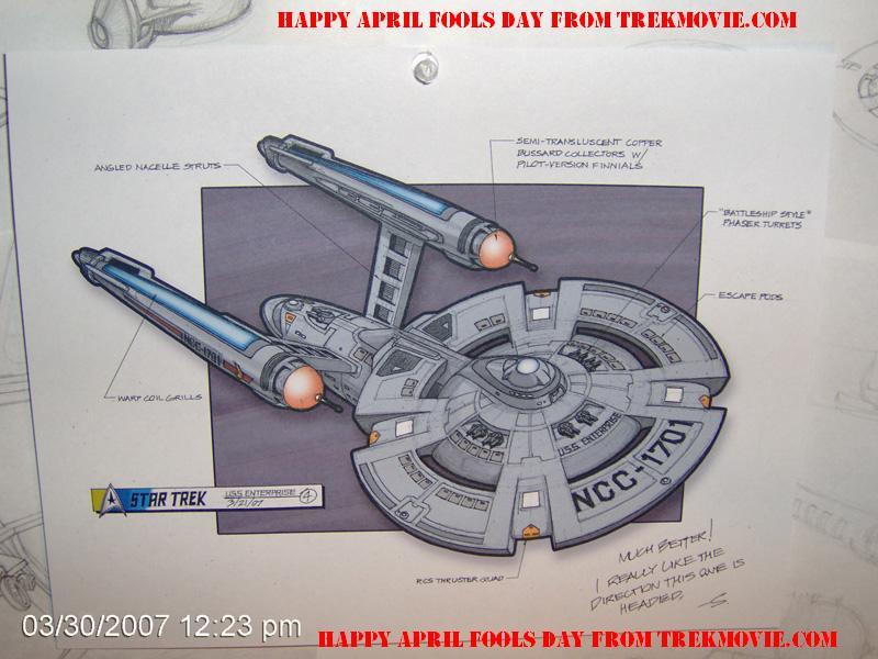 Possible new starship Enterprise (from Trekmovie.com)