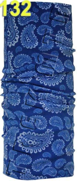 Buff blue paisley
