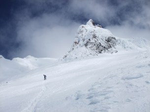 Heading up to Crater Rock on Mt. Hood.