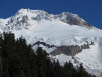 Close up of Mt. Hood. You can see Mississippi Head wall in the foreground. Crater Rock, an old lava dome, shows nicely.
