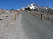 Road leading from Timberline Lodge up to Silcoit Hut