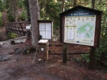 Wilderness sign in at Clarke Creek.