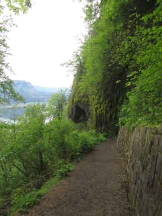 Heading down the paved Trail