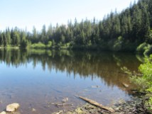 We hiked around Mirror Lake on the way up. This is the West end of the lake.