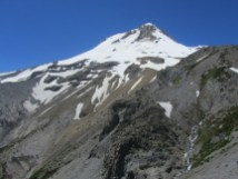 A view of Mt. Hood from our turn around point close to 7000 feet elevation.