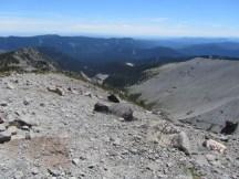 Looking back down the ridge.