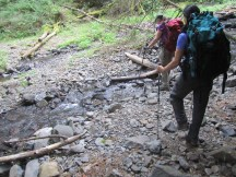 There is a little stream crossing at the start of the hike and it was down to almost a trickle.