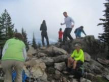 Taking a break on the summit.