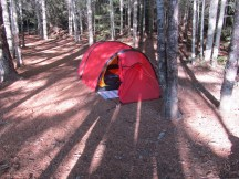 Our tent up and ready.