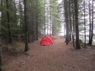 Our campsite in the morning
