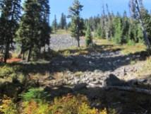 Boulder Field below the ridge.
