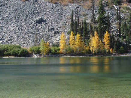 Fall color at Boulder Lake.