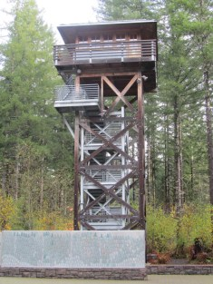 A recreated fire lookout.
