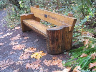 Many benches line the trails.