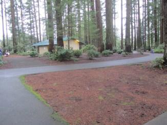 The upper parking lot has a develop park area.