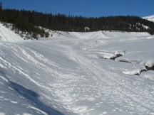 Lot of tracks in the snow from this past weekend