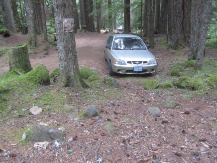 Although this is now just a trail head folks still camp here that only leaves small spots to park.
