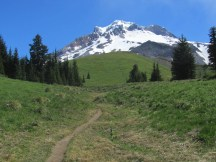 Heading up the trail to above Timberline.