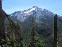 Mt. Jefferson from the trail.
