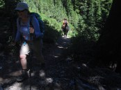 A good condition incentive is to have to climb the trail faster then the horse.