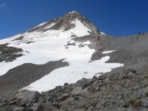 View of Mt. Hood, Newton Clark Glacier and Cooper Spur from my high Point.