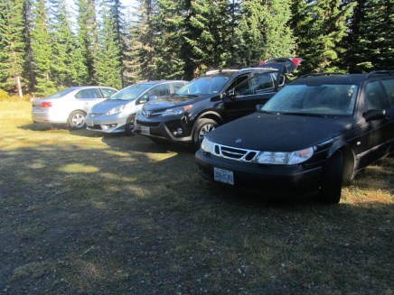 A few cars at the trail head spent the night.