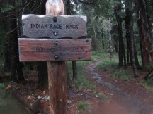 Trail Junction of PCT and Indian Race Track.