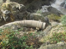 A section of pipe left from the hydro Elec. days