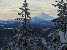 Looking south to Mt. Jefferson and Three Sisters.